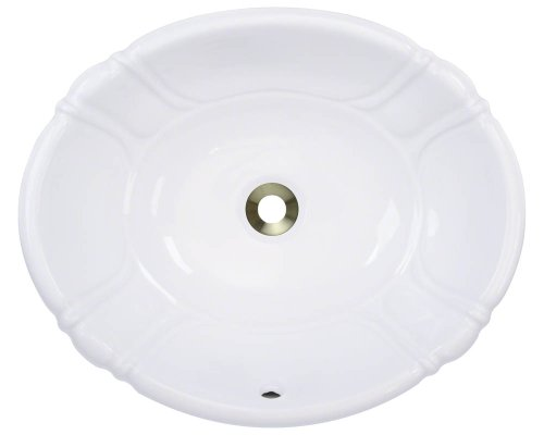 Polaris P5181OW White Porcelain Vessel/Drop-In Bathroom Sink