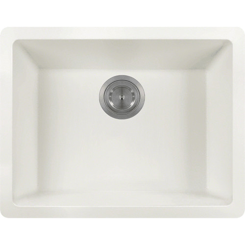 Polaris P808W White Single Bowl AstrGranite Kitchen Sink