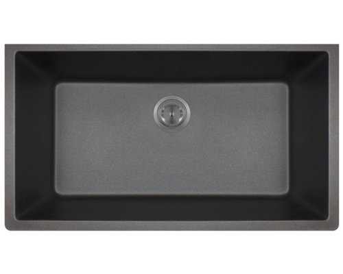 Polaris P848BL Black Astragranite Large Single Bowl Sink