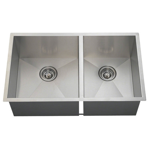 Polaris Offset Double Bowl Stainless Steel Sink