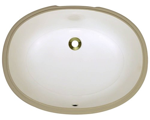Polaris pupl-b Bisque Undermount Porcelain Bathroom sink