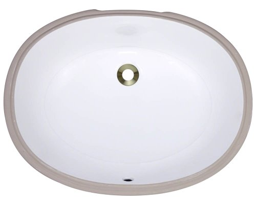 Polaris pupl-w White Undermount Porcelain Bathroom sink