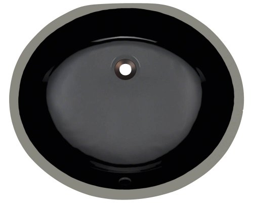Polaris pupm-bl Black Undermount Porcelain Bathroom sink
