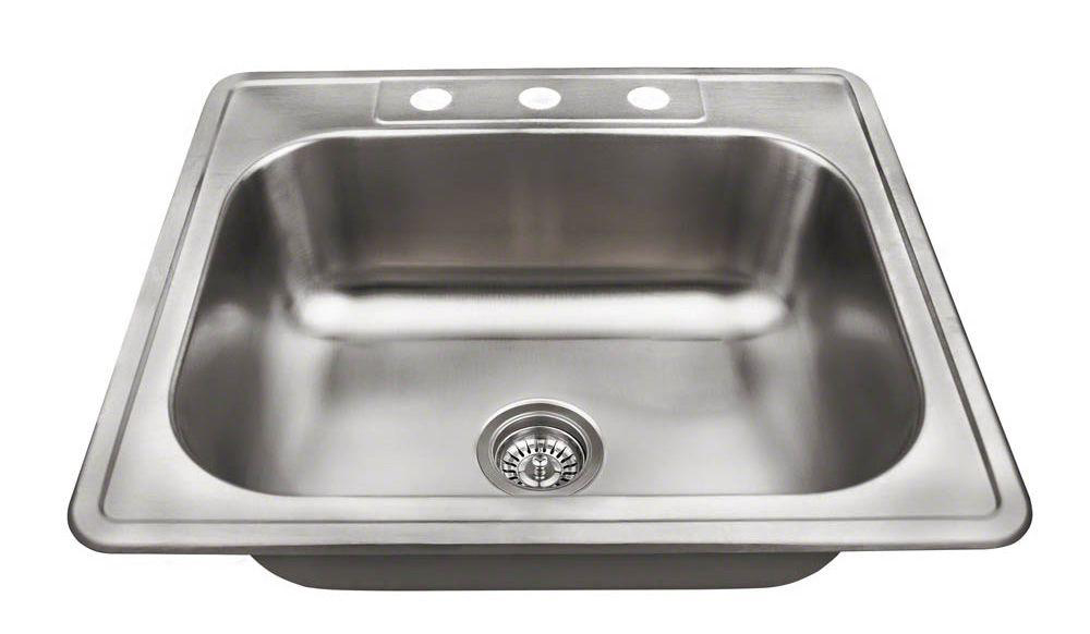 Polaris PT8301US Topmount Stainless Steel Sink