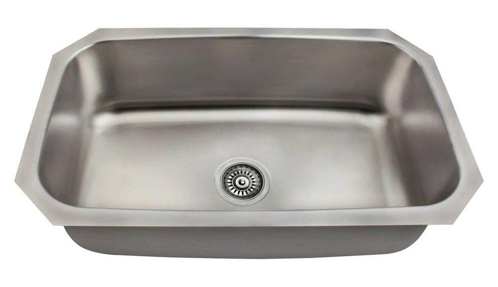 Polaris P0301US Single Bowl Stainless Steel Sink