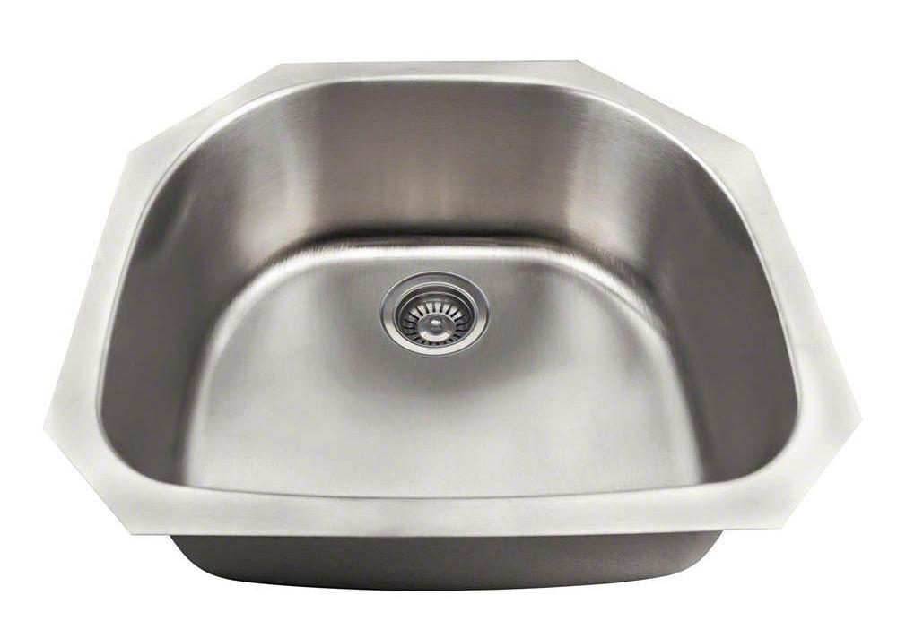 Polaris P2401US Single Bowl Stainless Steel Sink