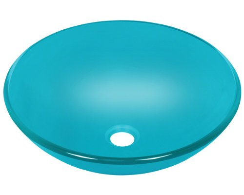 Polaris p106 turquoise Square Glass Vessel Sink