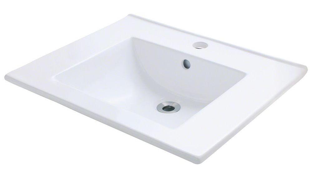 Polaris P013VW White Porcelain Vessel Sink