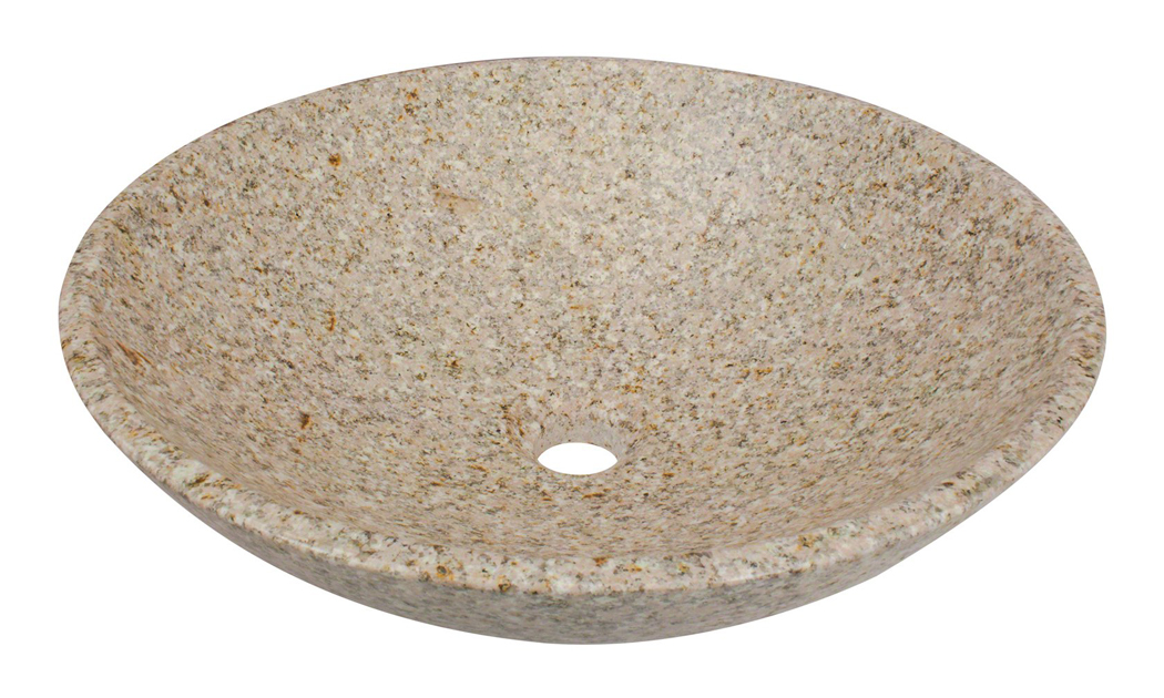 Polaris P058TN Tan Granite Vessel Bathroom Sink