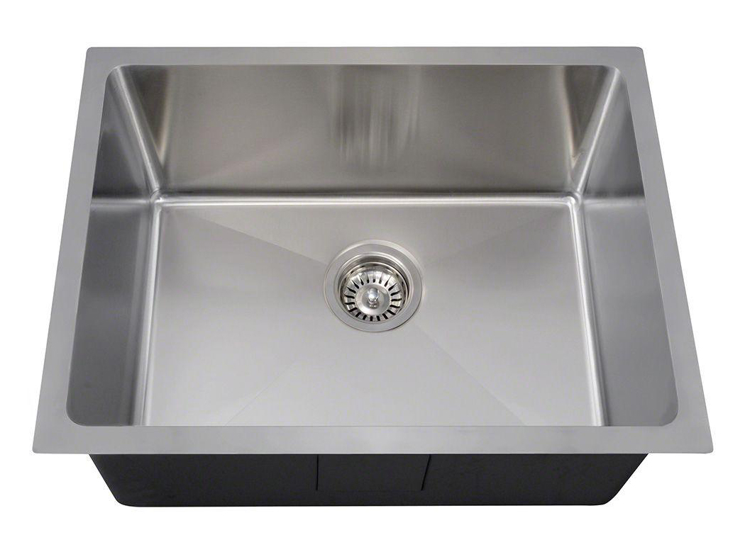 Polaris P3281 Undermount Single Bowl 3/4 Radius Stainless Steel Sink
