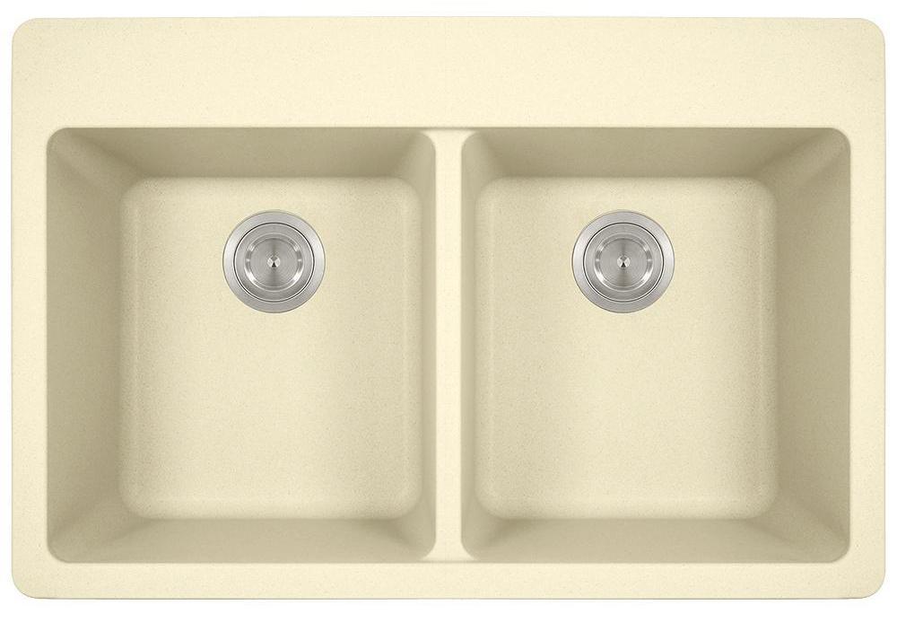 Polaris P208TBE Double Equal Bowl Topmount AstraGranite Sink