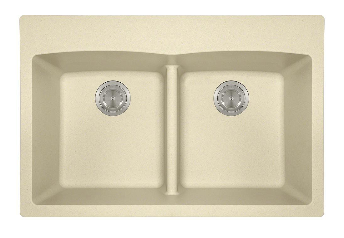 Polaris P218TBE Double Equal Bowl Low-Divide Topmount TruGranite Sink