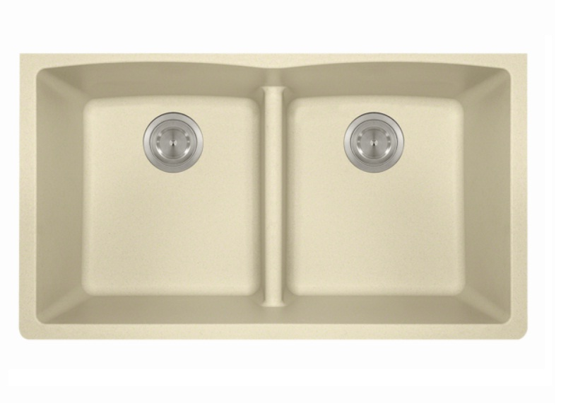 Polaris P218BE Double Equal Bowl Low-Divide Undermount TruGranite Sink