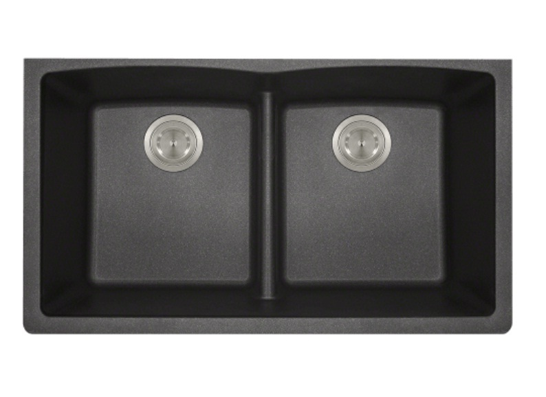 Polaris P218BL Double Equal Bowl Low-Divide Undermount TruGranite Sink