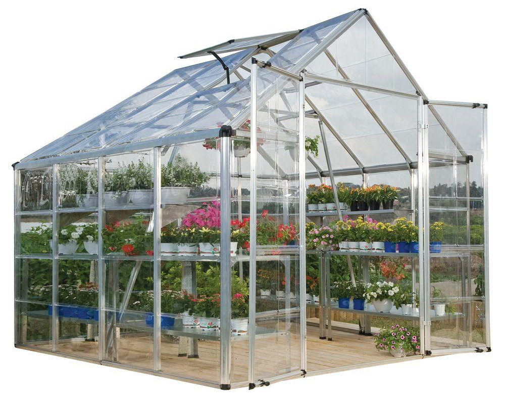 Palram Snap & Grow 8' X 8' Hobby Greenhouse - Silver
