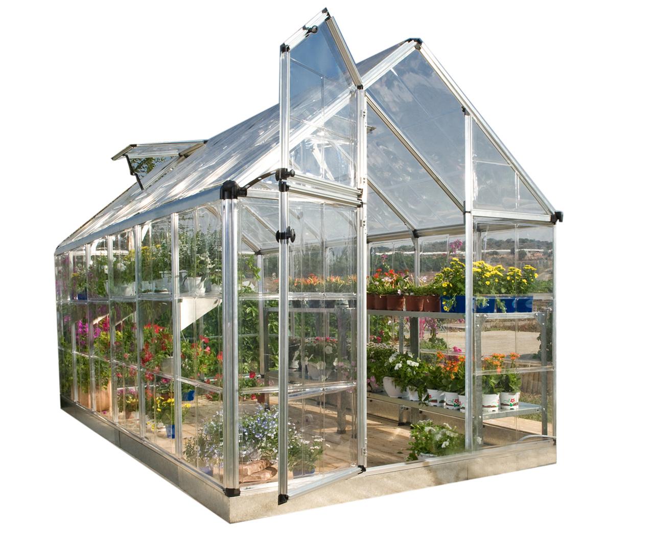Palram Snap & Grow 6' x 16' Hobby Greenhouse - Silver