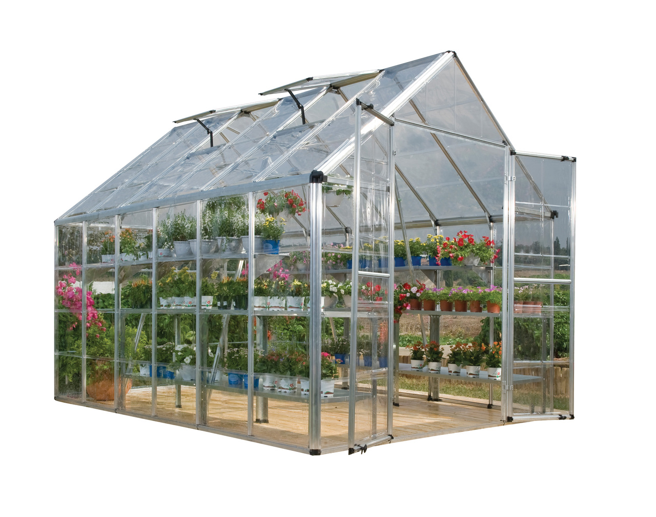 Palram Snap & Grow 8' x 12' Hobby Greenhouse, Silver
