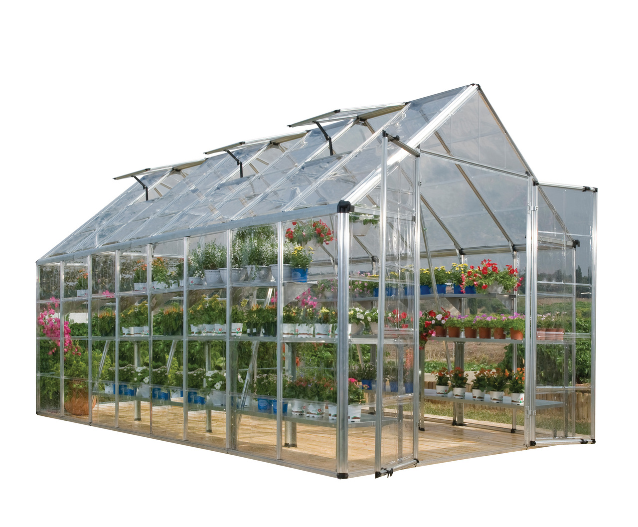 Palram Snap & Grow 8' x 16' Hobby Greenhouse - Silver