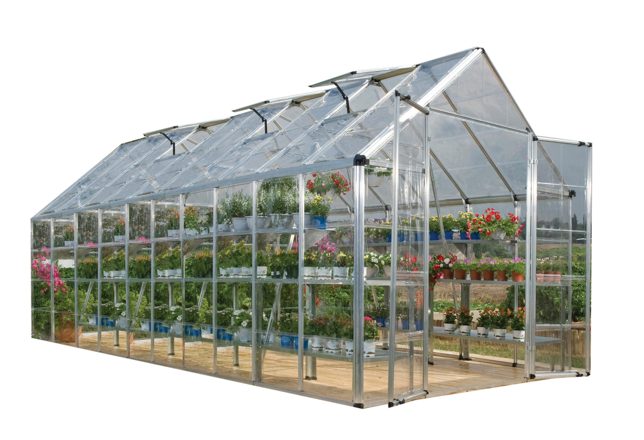 Palram Snap & Grow 8' x 20' Hobby Greenhouse - Silver