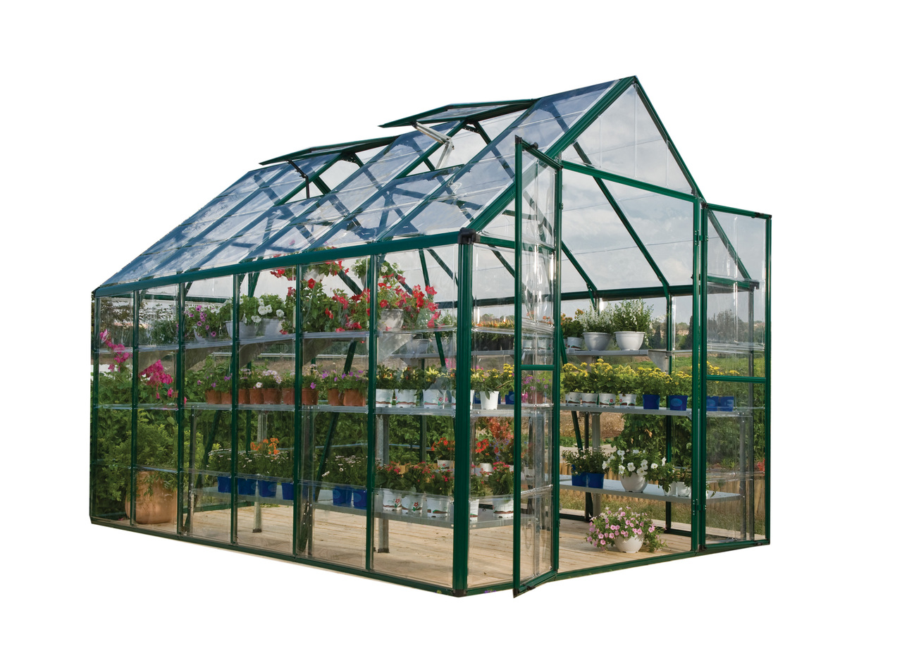 Palram Snap & Grow 8' x 12' Hobby Greenhouse - Green