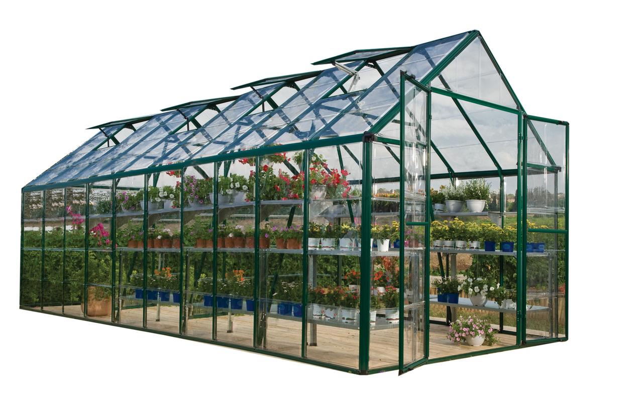 Palram Snap & Grow 8' x 20' Hobby Greenhouse - Green