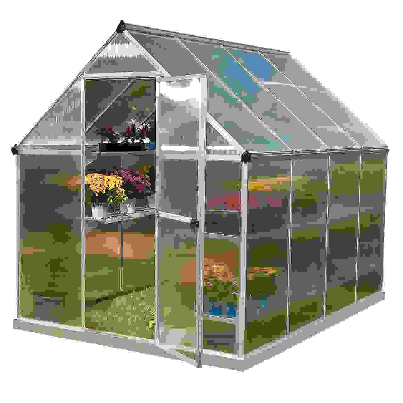 Mythos 6' x 6' Hobby Greenhouse - Silver