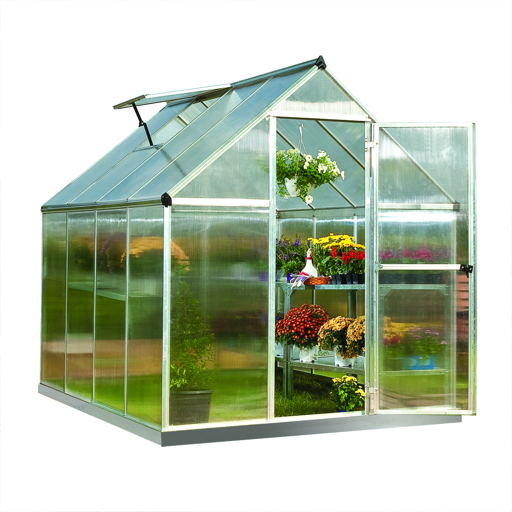 Mythos 6' x 8' Hobby Greenhouse - Silver