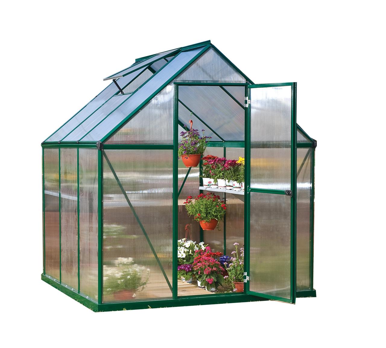 Mythos 6' x 6' Hobby Greenhouse, Green
