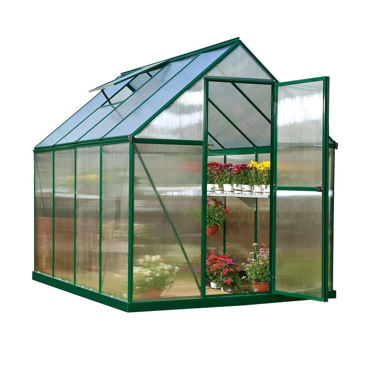 Mythos 6' x 8' Hobby Greenhouse, Green