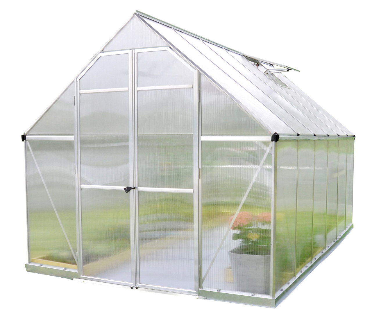 Essence 8' x 12' Hobby Greenhouse, Silver