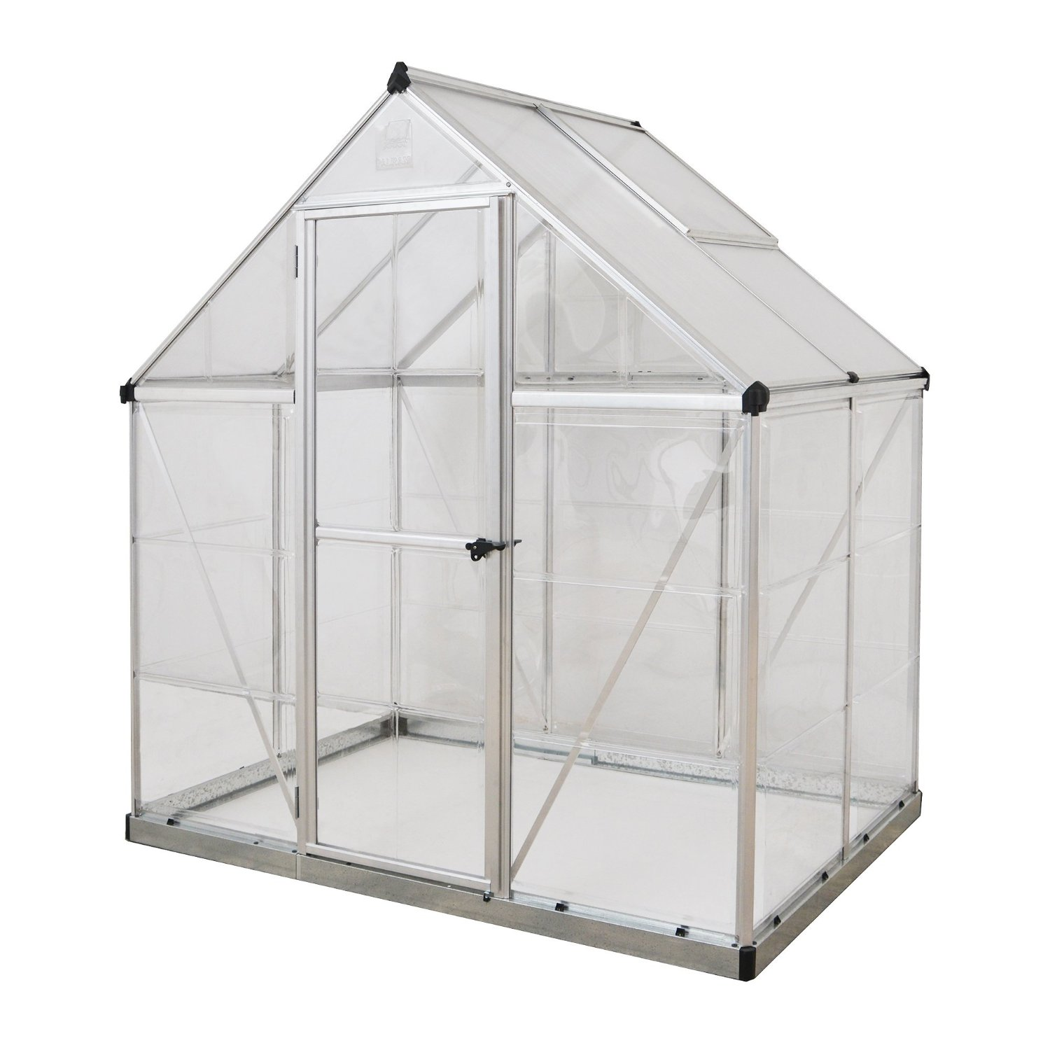 Palram Nature Series Hybrid Hobby Greenhouse - 6 x 4 x 7 Silver