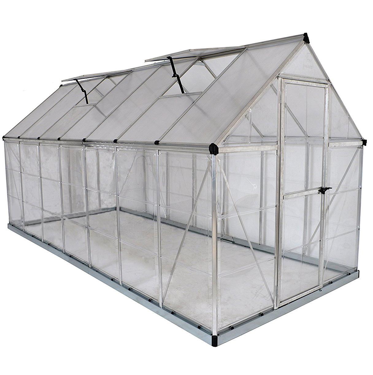 Palram Nature Series Hybrid Hobby Greenhouse - 6' x 14' Silver