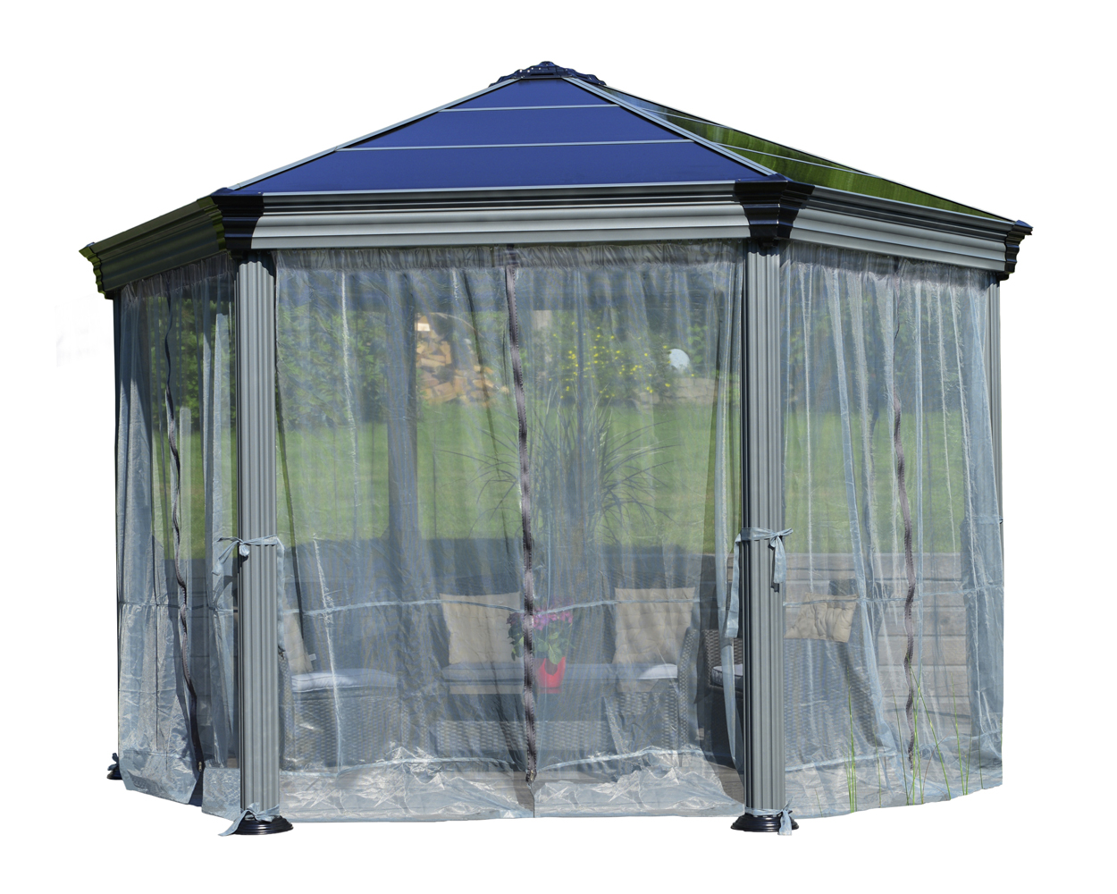 Roma Gazebo Netting set - 6 Piece