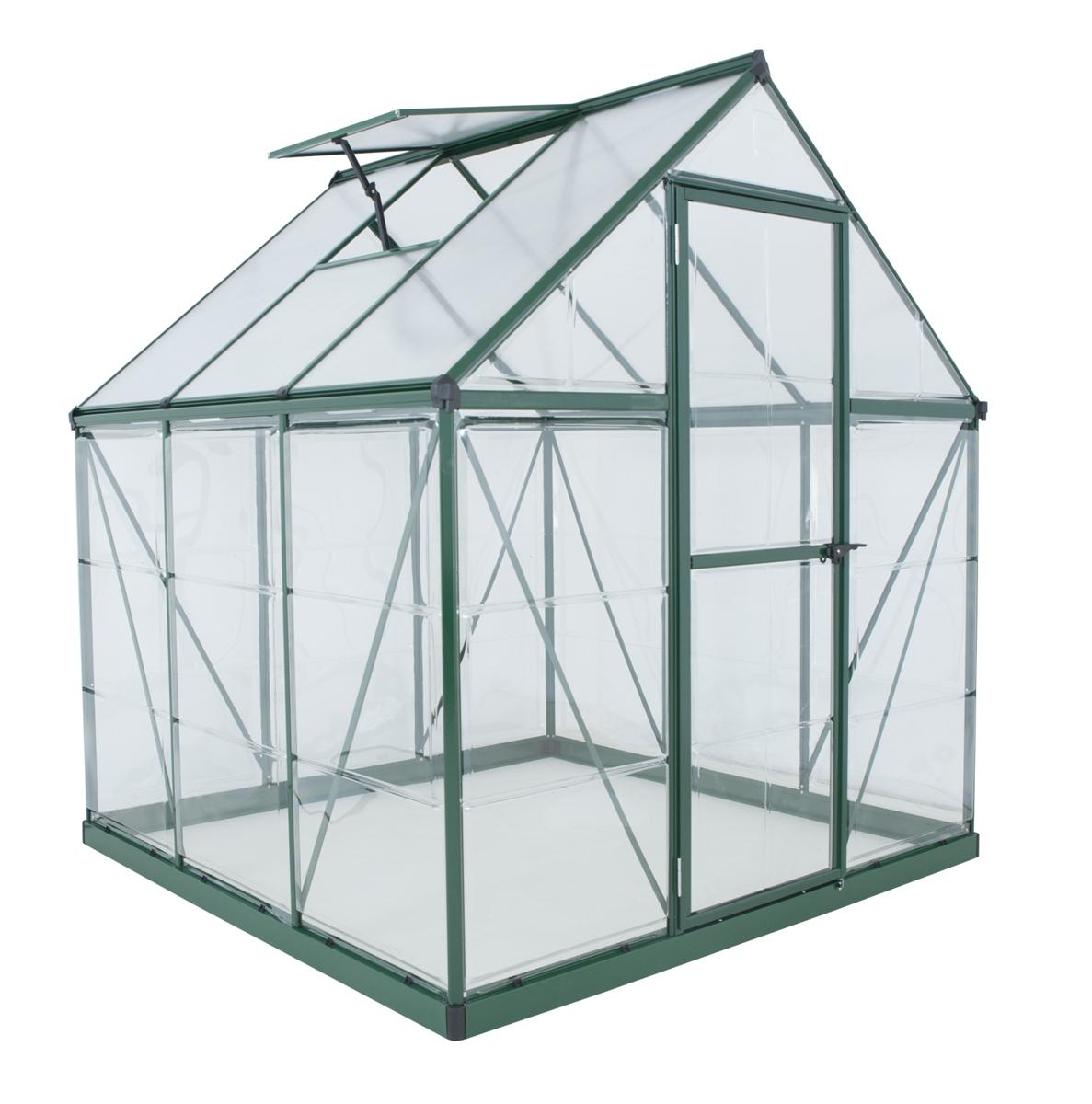 Hybrid 6' x 6' Greenhouse - Green