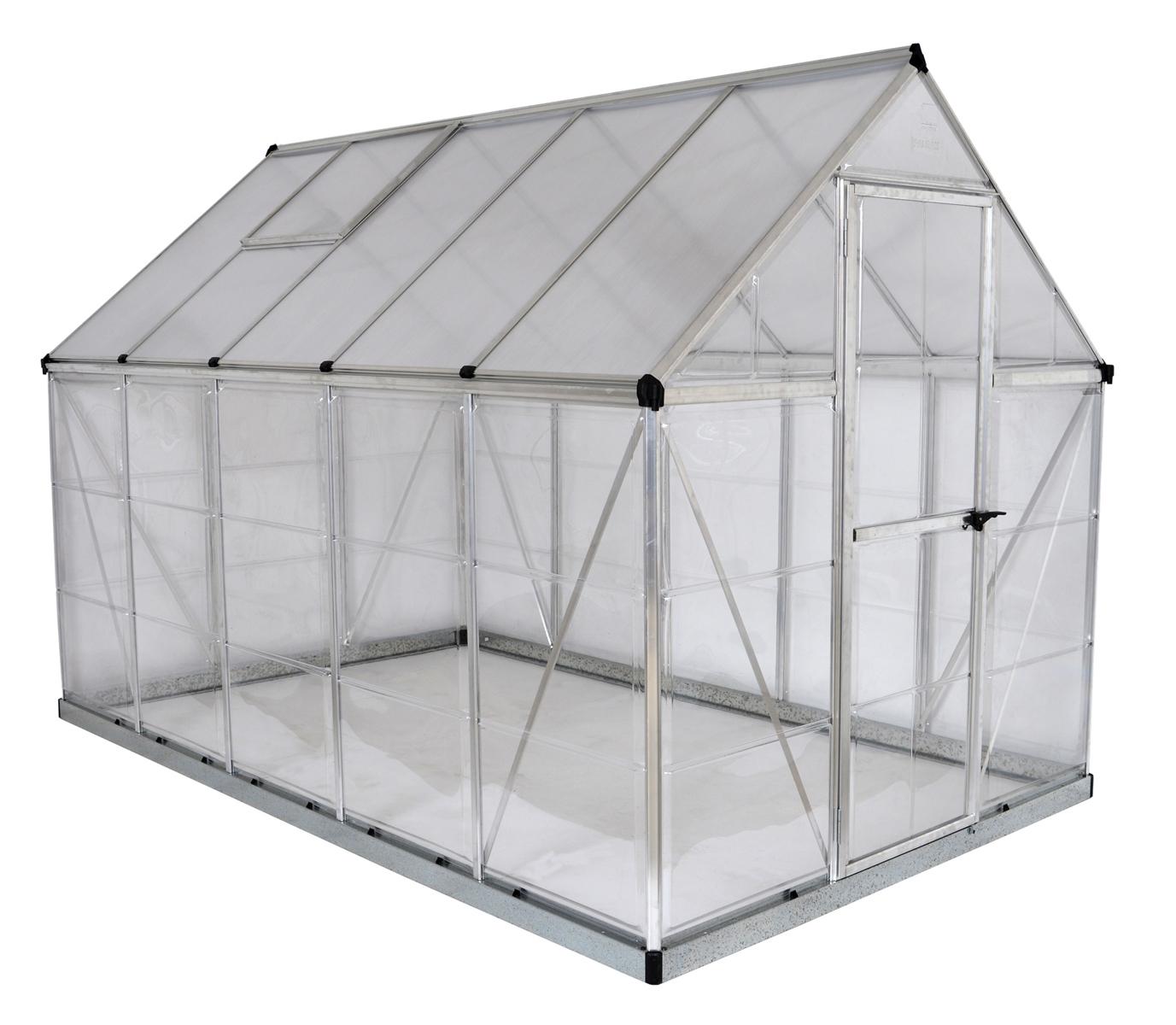 Hybrid 6' x 10' Greenhouse - Silver