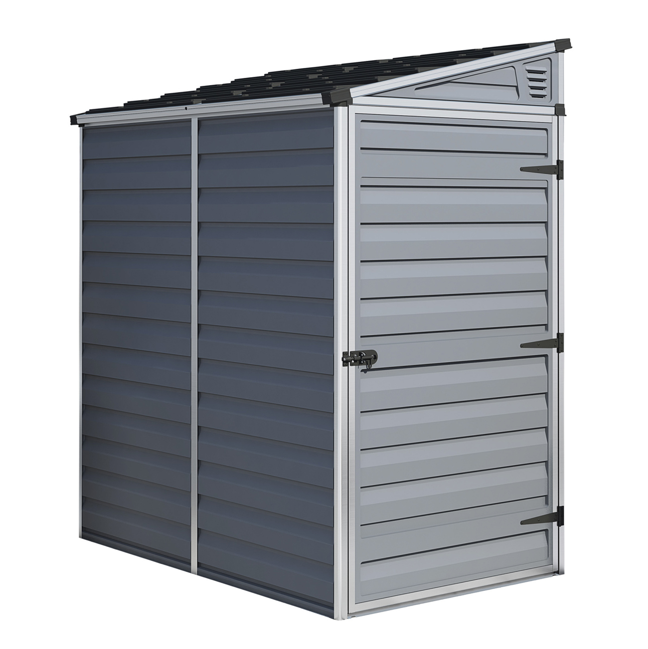 SkyLight 4' x 6' Lean-To Storage Shed - Gray