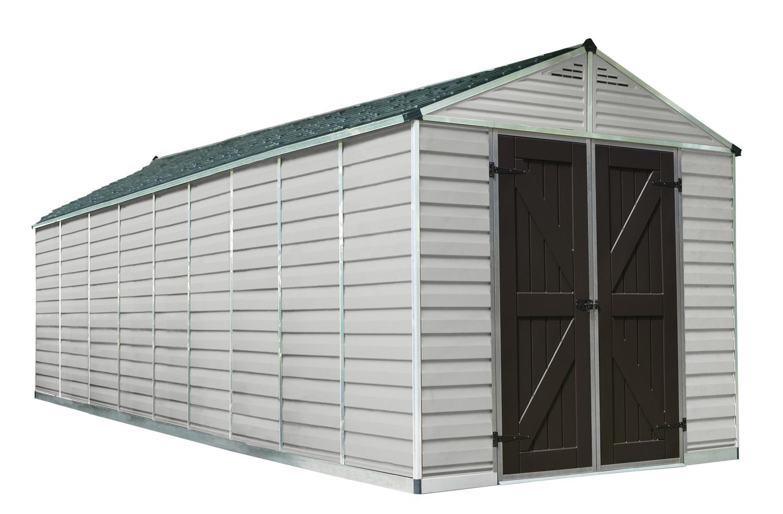 SkyLight 8' x 20' Storage Shed - Tan