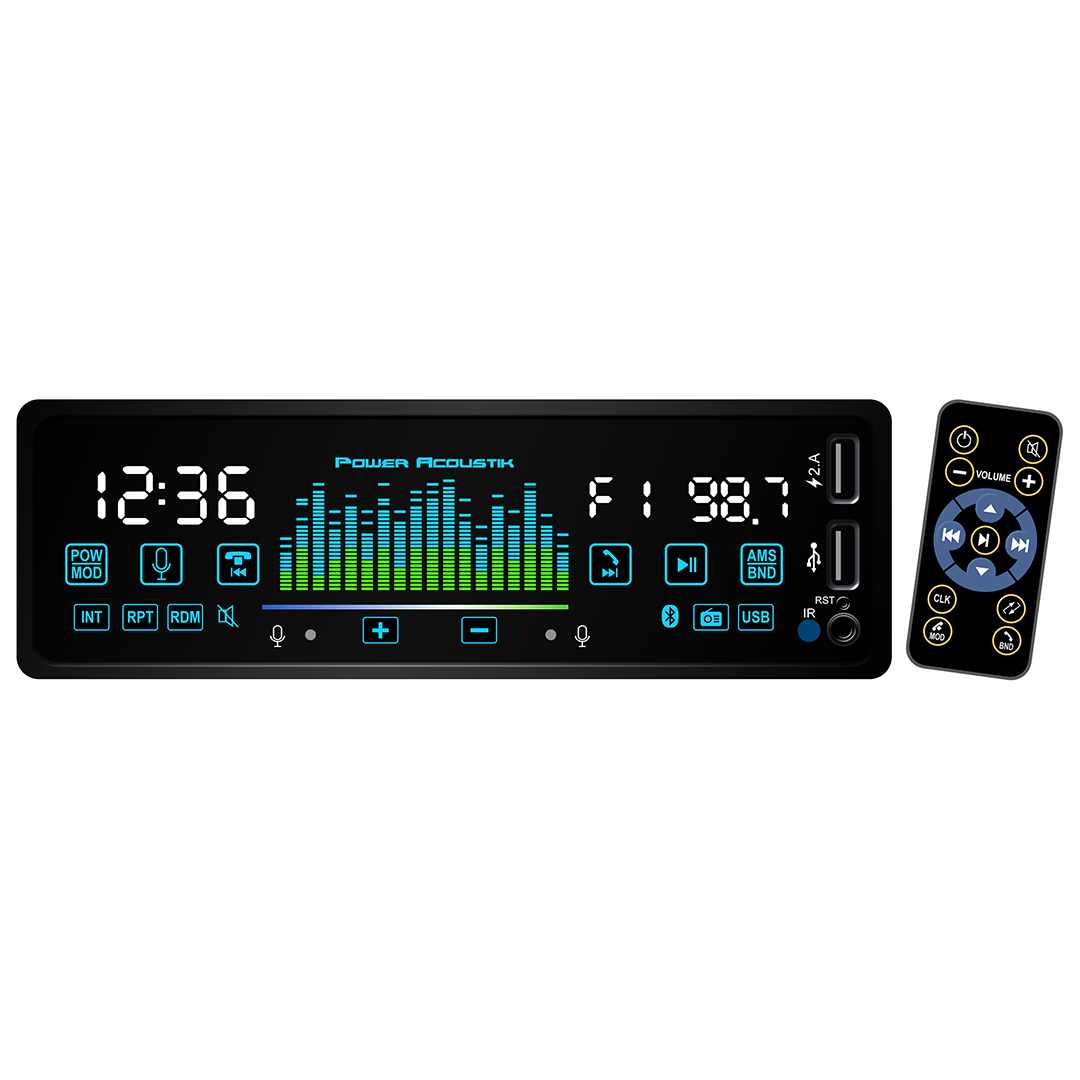 Power Acoustik Mechless MP3/WMA Receiver with Bluetooth & Hand Gesture Control