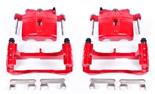 Power Stop Performance Powder Coated Calipers with Brackets