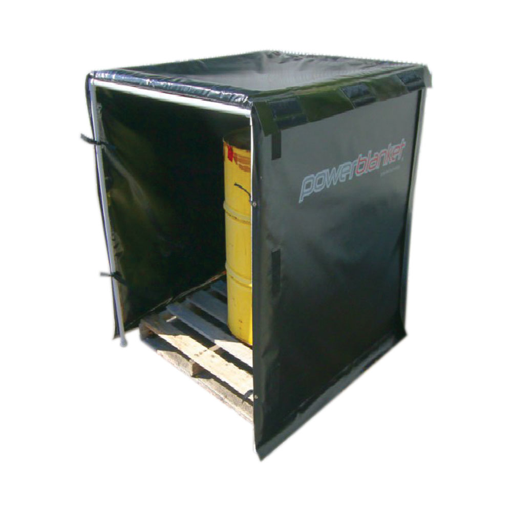 Hot Box Heater - HB64PRO-1440 Bulk Material Warmer, 64 cubic feet, 4' x 4' x 4', 120V, 1440 Watts
