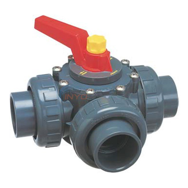 "Diverter Valve, 3 Port, 2""S (2-1/2""Spg), Praher Perma-Seal, Black CPCV"