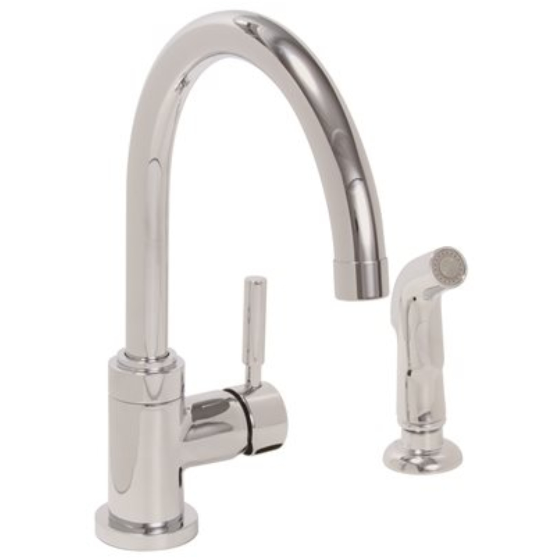 PREMIER� ESSEN� KITCHEN FAUCET WITH PULL-DOWN, SINGLE LEVER HANDLE AND SOAP DISPENSER, 1.8 GPM, BRUSHED NICKEL, LEAD FREE*
