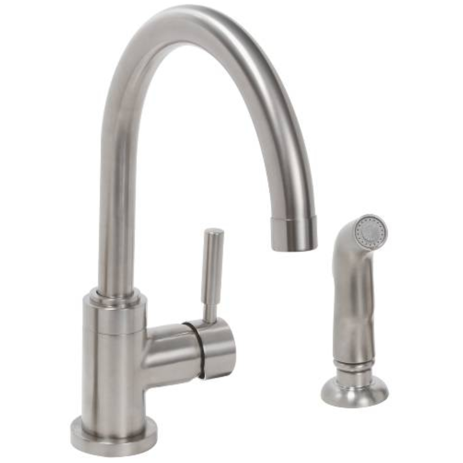 Premier Essen Lead-Free Single-Handle High-Arc Kitchen Faucet PVD Brushed Nickel