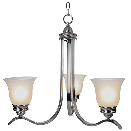 "24.75"" Sanibel™ 3 Lights Chandelier Ceiling Fixture, Brushed Nickel"