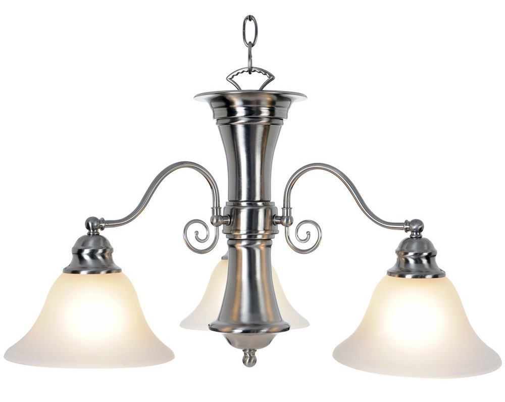 "24"" Wellington™ 3 Lights Chandelier Ceiling Fixture, Brushed Nickel"