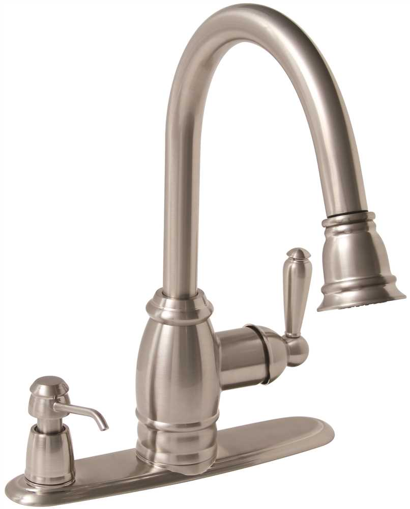 Sonoma Lead-Free Pull-Down Kitchen Faucet with Matching Soap Dispenser