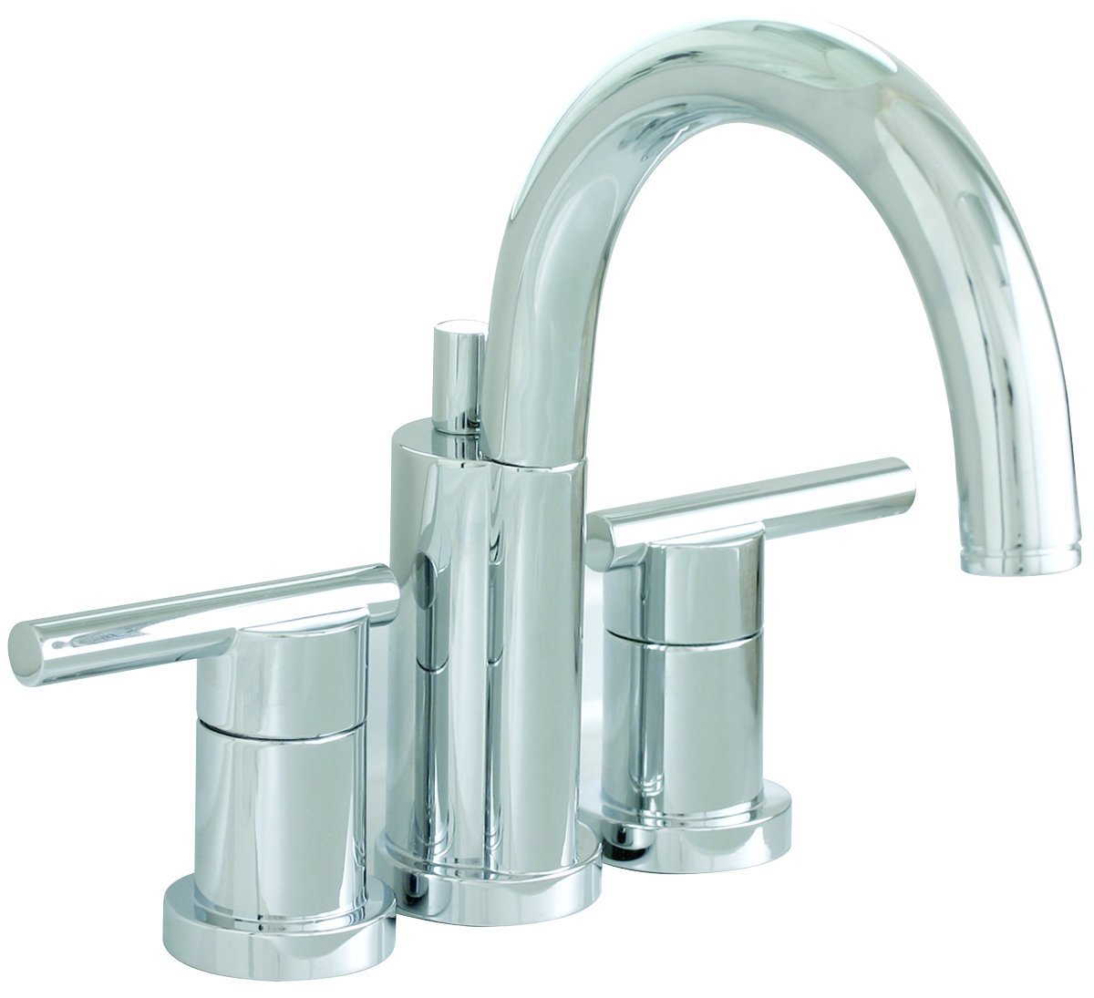 Essen Lead-Free Mini-Widespread Lavatory Faucet with Lever Handles And Brass Pop-Up, Chrome