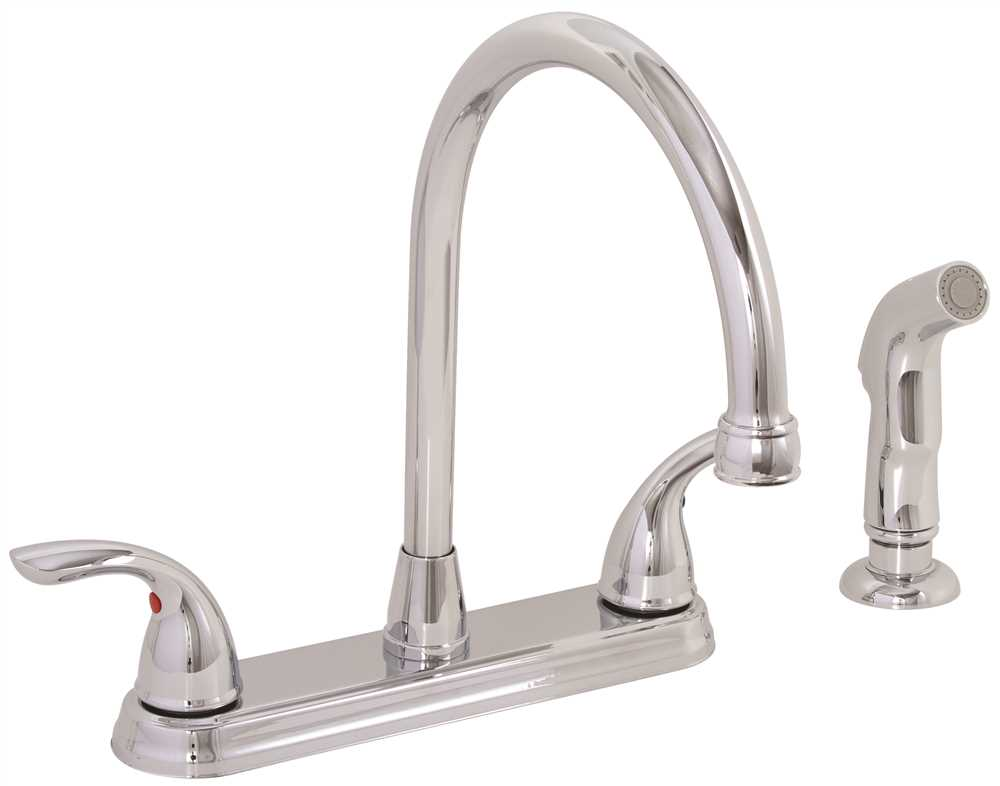 Westlake Two-Handle Kitchen Faucet with Matching Spray, Chrome