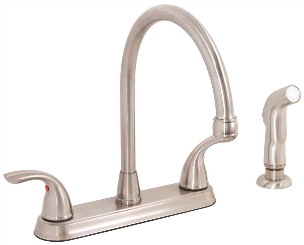 PREMIER� WESTLAKE� KITCHEN FAUCET WITH TWO HANDLES AND SIDE SPRAY, 1.8 GPM, BRUSHED NICKEL, LEAD FREE*