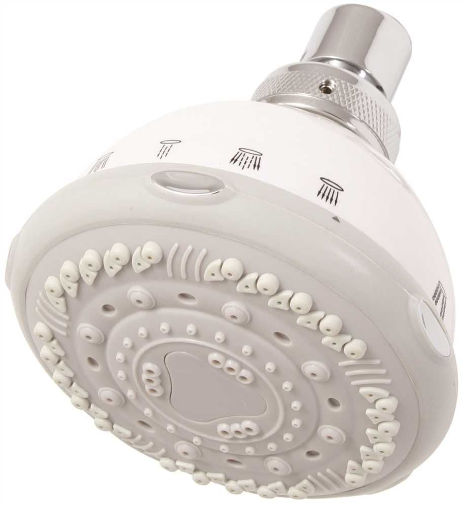2.5 GPM Premier Seven Setting Shower Head White
